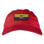Ecuador Unstructured Adjustable Cap (Red)