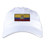 Ecuador Unstructured Adjustable Cap (White)
