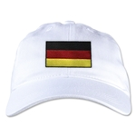 Germany Unstructured Adjustable Cap (White)