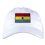 Ghana Unstructured Adjustable Cap (White)