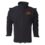 Burkina Faso Performance Softshell Jacket (Black)