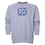 1966 FIFA World Cup England Historical Poster Crewneck Fleece (Grey)