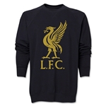 Liverpool Liver Bird Distressed Crewneck Fleece (Black)
