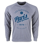 Paris Saint-Germain Circle Script Crewneck Fleece (Gray)