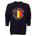 Belgium Euro 2016 Fashion Crewneck Sweatshirt (Black)