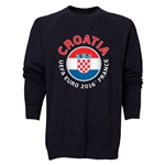 Croatia Euro 2016 Fashion Crewneck Sweatshirt (Black)