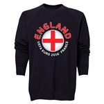 England Euro 2016 Fashion Crewneck Sweatshirt (Black)