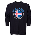 Iceland Euro 2016 Fashion Crewneck Sweatshirt (Black)
