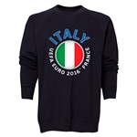 Italy Euro 2016 Fashion Crewneck Sweatshirt (Black)