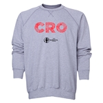 Croatia Euro 2016 Elements Crewneck Sweatshirt (Grey)