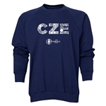 Czech Republic Euro 2016 Elements Crewneck Sweatshirt (Navy)