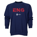 England Euro 2016 Elements Crewneck Sweatshirt (Navy)