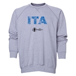 Italy Euro 2016 Elements Crewneck Sweatshirt (Grey)