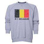 Belgium Euro 2016 Fashion Crewneck Sweatshirt (Grey)