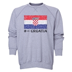 Croatia Euro 2016 Fashion Crewneck Sweatshirt (Grey)