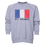 France Euro 2016 Fashion Crewneck Sweatshirt (Grey)