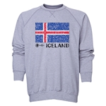 Iceland Euro 2016 Fashion Crewneck Sweatshirt (Grey)
