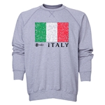 Italy Euro 2016 Fashion Crewneck Sweatshirt (Grey)