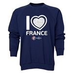 France Euro 2016 Heart Crewneck Sweatshirt (Navy)