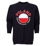 Poland Euro 2016 Fashion Crewneck Sweatshirt (Black)