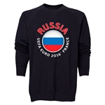 Russia Euro 2016 Fashion Crewneck Sweatshirt (Black)