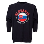 Slovakia Euro 2016 Fashion Crewneck Sweatshirt (Black)