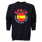 Spain Euro 2016 Fashion Crewneck Sweatshirt (Black)