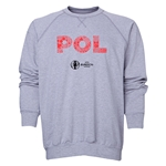 Poland Euro 2016 Elements Crewneck Sweatshirt (Grey)