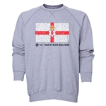Northern Ireland Euro 2016 Fashion Crewneck Sweatshirt (Grey)