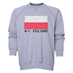 Poland Euro 2016 Fashion Crewneck Sweatshirt (Grey)