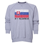 Slovakia Euro 2016 Fashion Crewneck Sweatshirt (Grey)