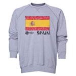 Spain Euro 2016 Fashion Crewneck Sweatshirt (Grey)