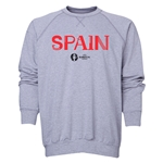 Spain Euro 2016 Core Crewneck Sweatshirt (Grey)