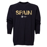 Spain Euro 2016 Core Crewneck Sweatshirt (Black)