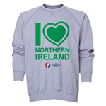 Northern Ireland Euro 2016 Heart Crewneck Sweatshirt (Grey)