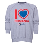 Romania Euro 2016 Heart Crewneck Sweatshirt (Grey)