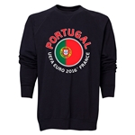 Portugal Euro 2016 Fashion Crewneck Sweatshirt (Black)