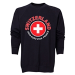 Switzerland Euro 2016 Fashion Crewneck Sweatshirt (Black)