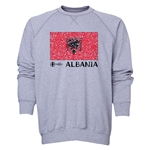 Albania Euro 2016 Fashion Crewneck Sweatshirt (Grey)