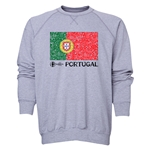 Portugal Euro 2016 Fashion Crewneck Sweatshirt (Grey)