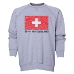 Switzerland Euro 2016 Fashion Crewneck Sweatshirt (Grey)