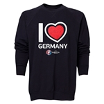 Germany Euro 2016 Heart Crewneck Sweatshirt (Black)