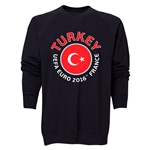 Turkey Euro 2016 Fashion Crewneck Sweatshirt (Black)