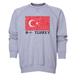 Turkey Euro 2016 Fashion Crewneck Sweatshirt (Grey)