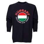 Hungary Euro 2016 Fashion Crewneck Sweatshirt (Black)