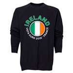 Ireland Euro 2016 Fashion Crewneck Sweatshirt (Black)