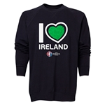 Ireland Euro 2016 Heart Crewneck Sweatshirt (Black)