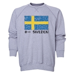 Sweden Euro 2016 Fashion Crewneck Sweatshirt (Grey)