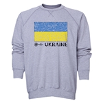Ukraine Euro 2016 Fashion Crewneck Sweatshirt (Grey)