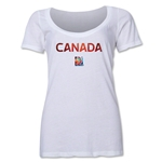 Canada FIFA Women's World Cup Canada 2015(TM) Women's Scoopneck T-Shirt (White)